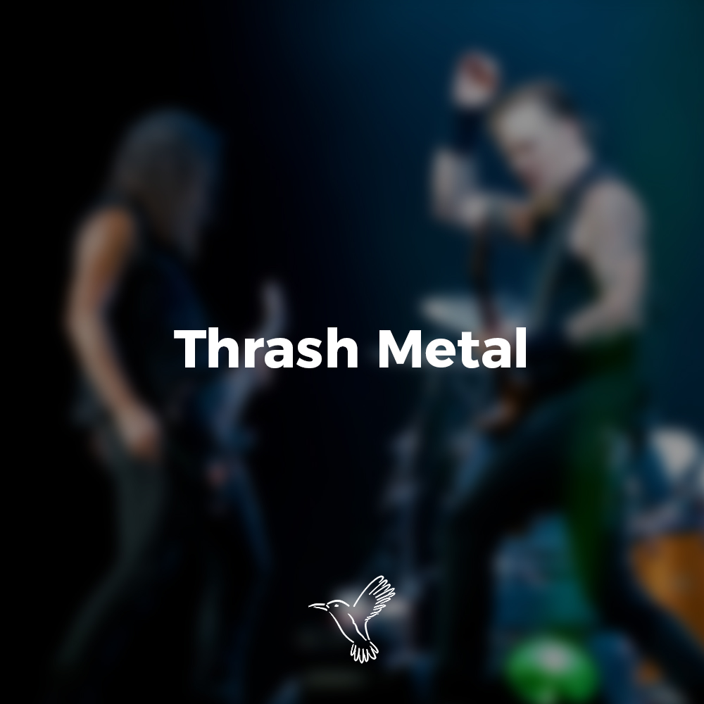thrash metal playlist cover