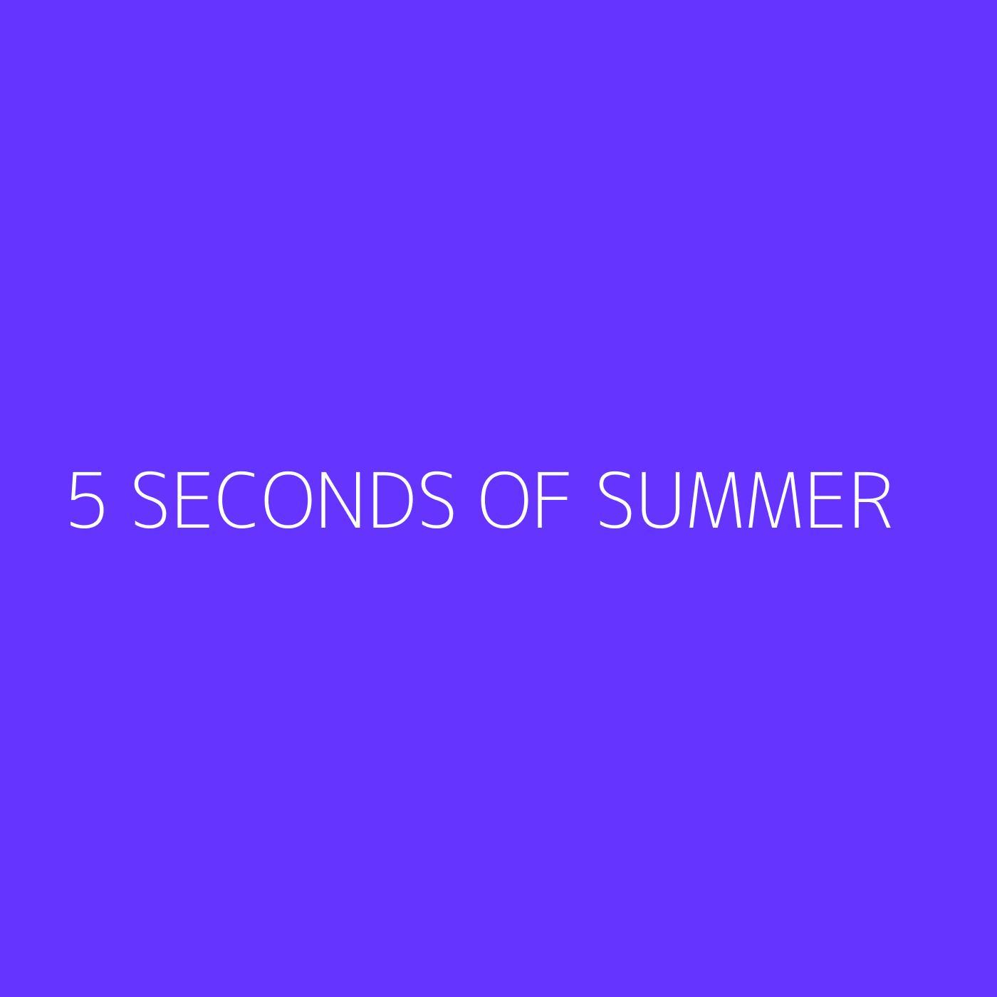 5 Seconds of Summer Playlist Artwork