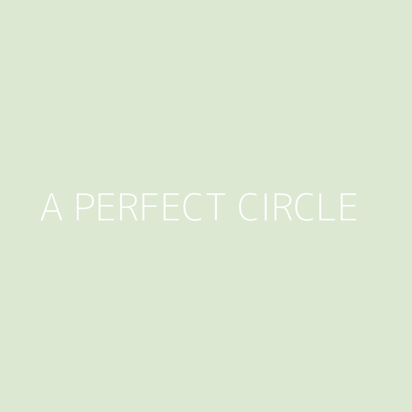 A Perfect Circle Playlist Artwork
