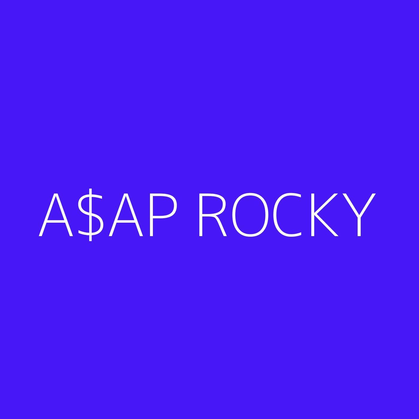 A$AP Rocky Playlist Artwork