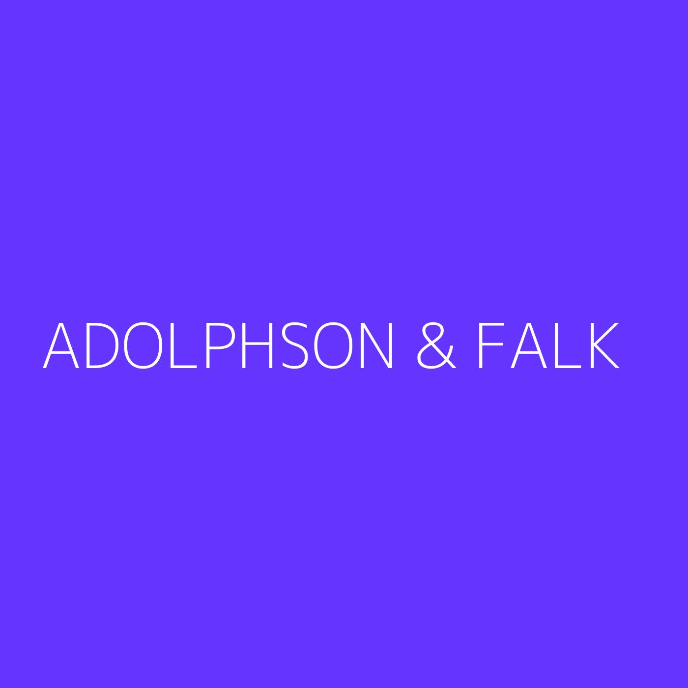 Adolphson & Falk Playlist Artwork