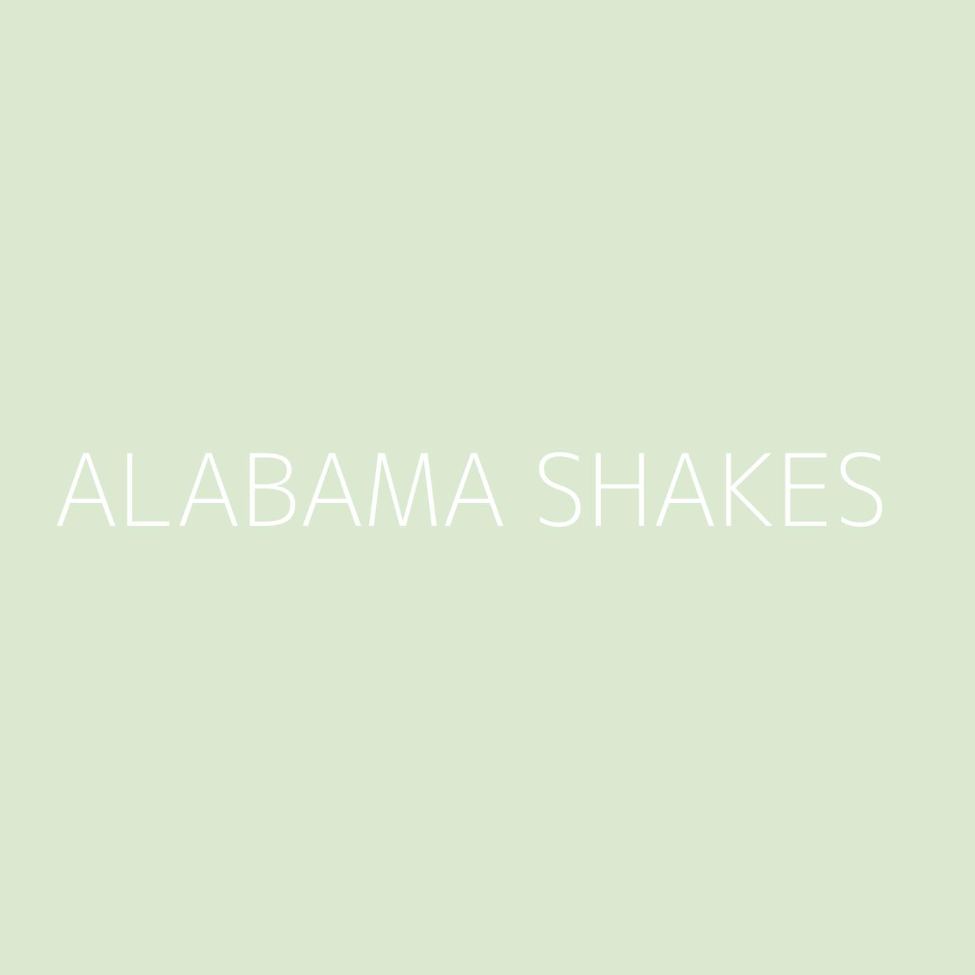 Alabama Shakes Playlist Artwork