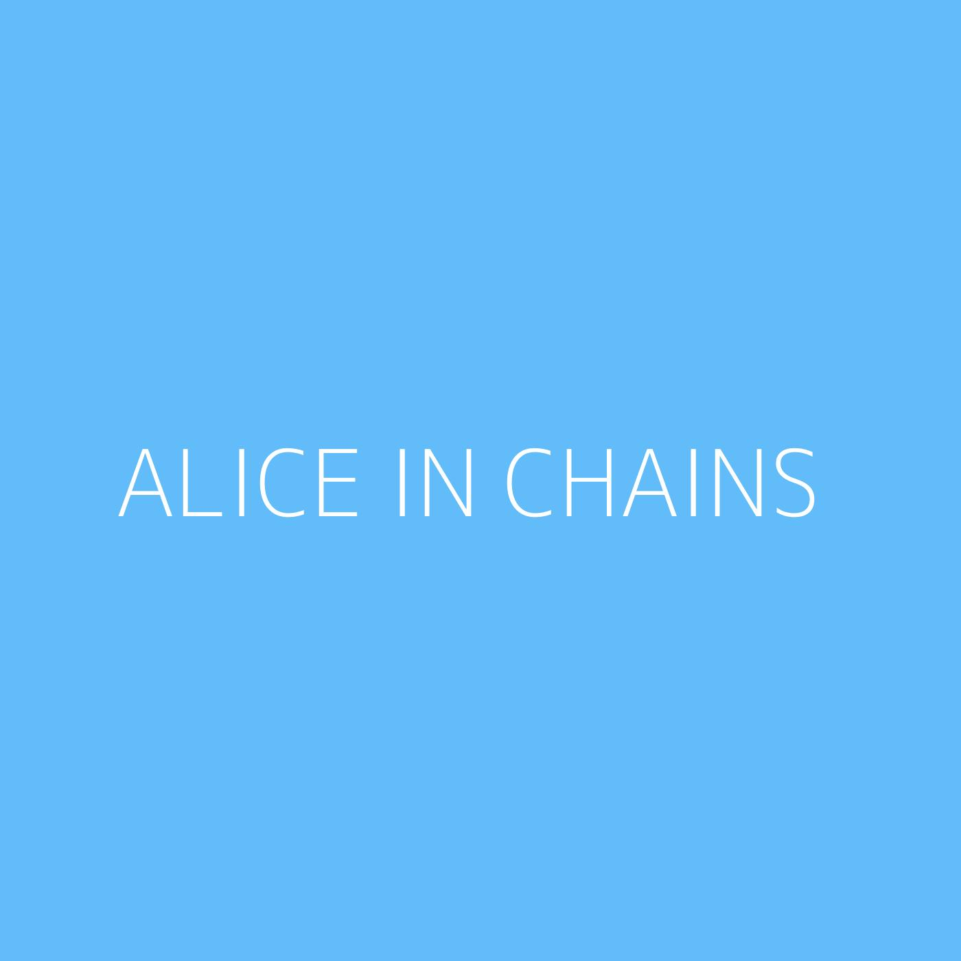 Alice In Chains Playlist Artwork