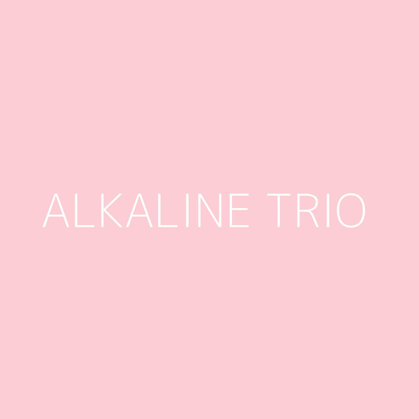 Alkaline Trio Playlist Artwork