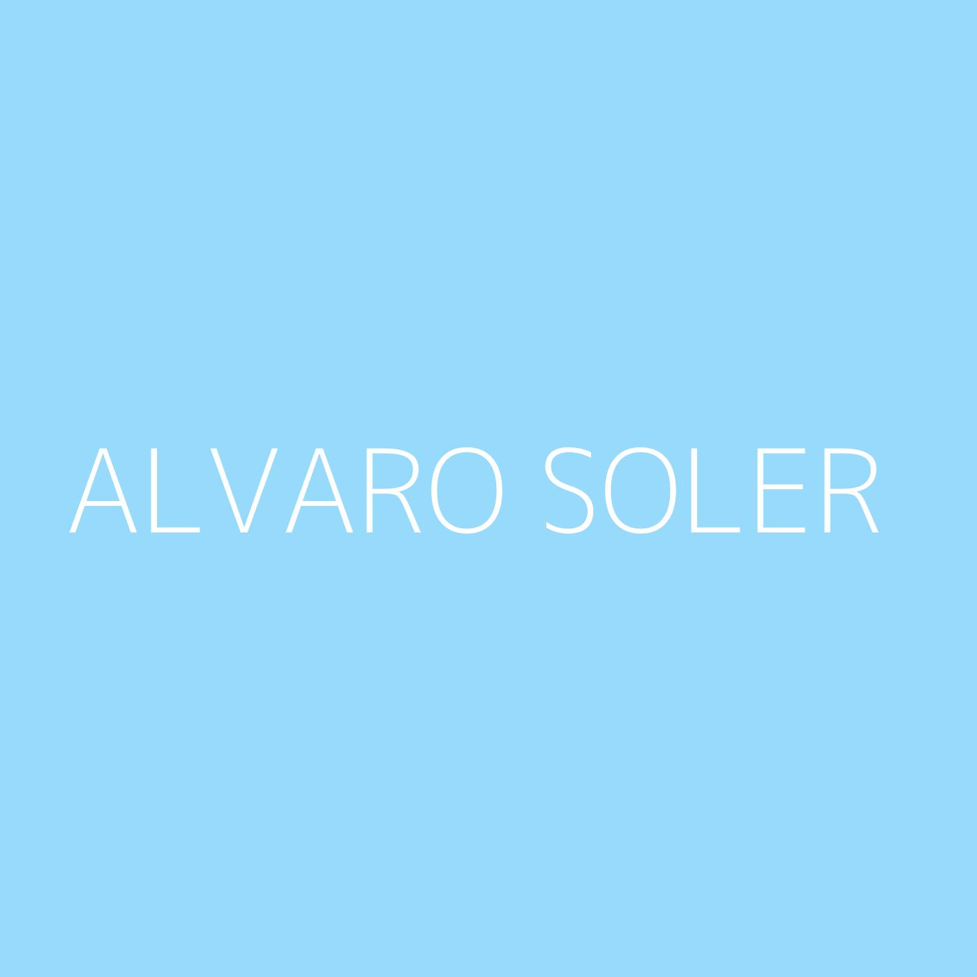 Alvaro Soler Playlist Artwork