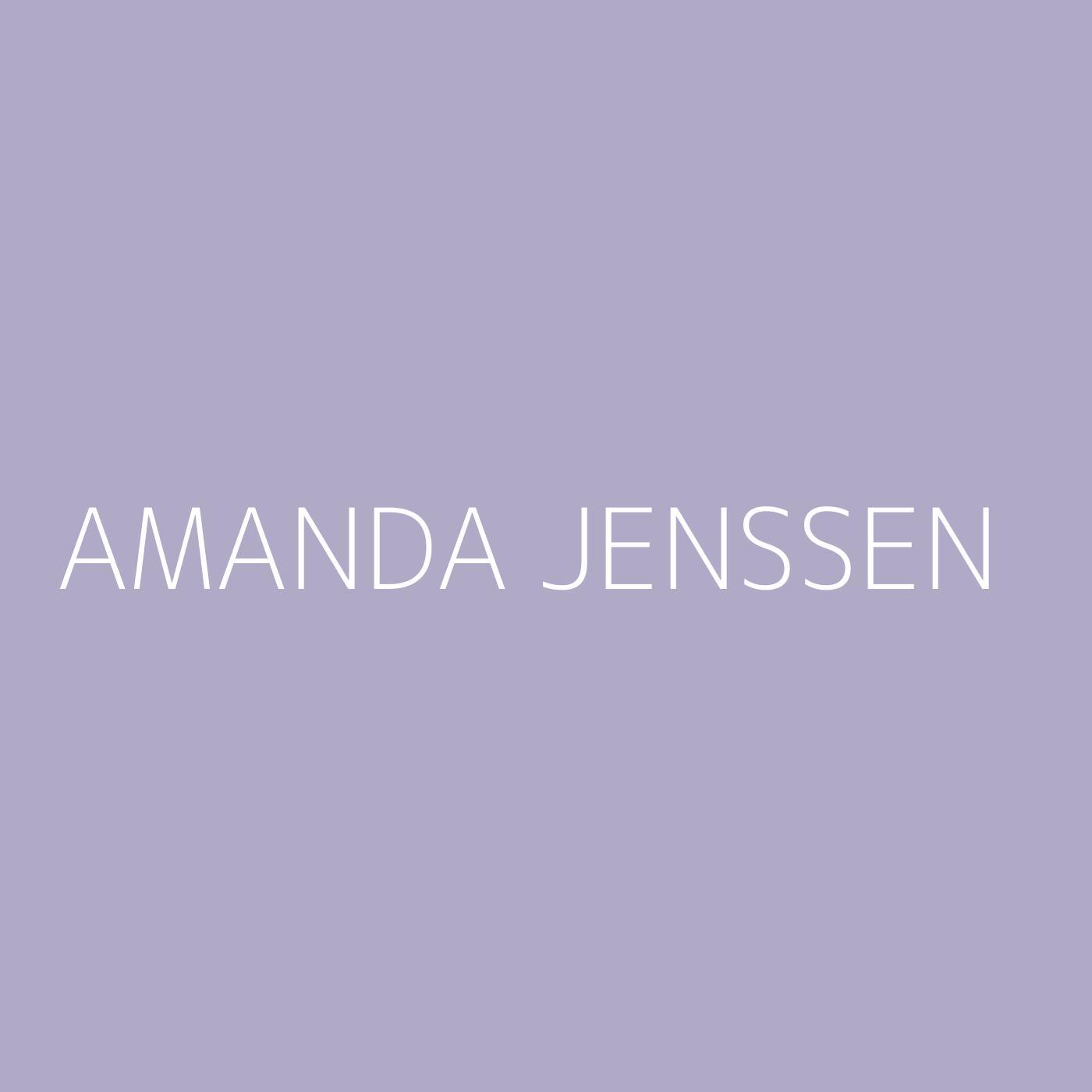 Amanda Jenssen Playlist Artwork
