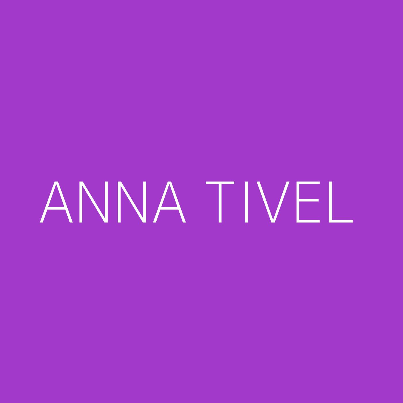 Anna Tivel Playlist Artwork