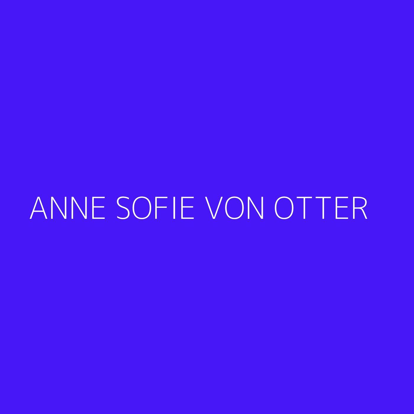Anne Sofie von Otter Playlist Artwork
