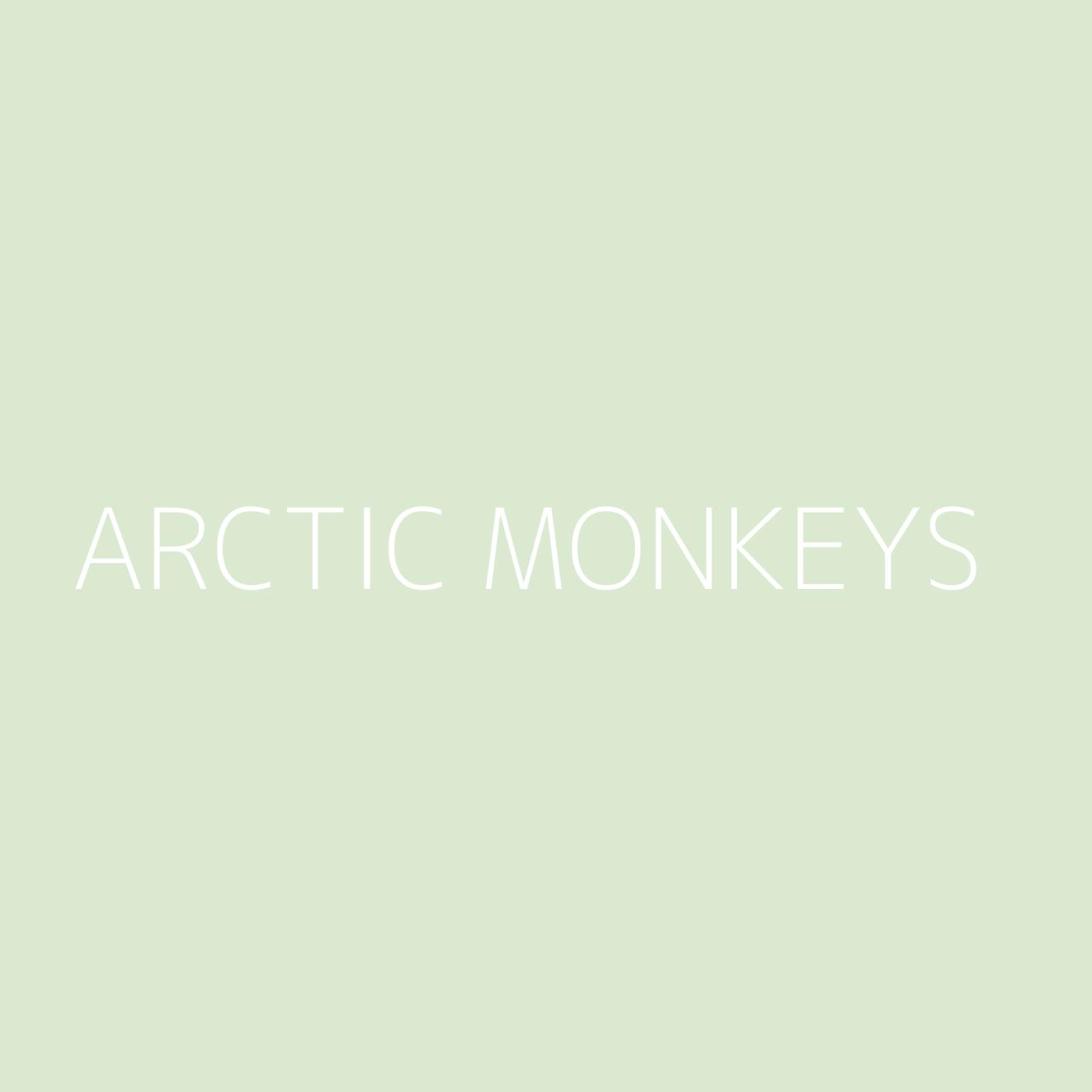 Arctic Monkeys Playlist Artwork