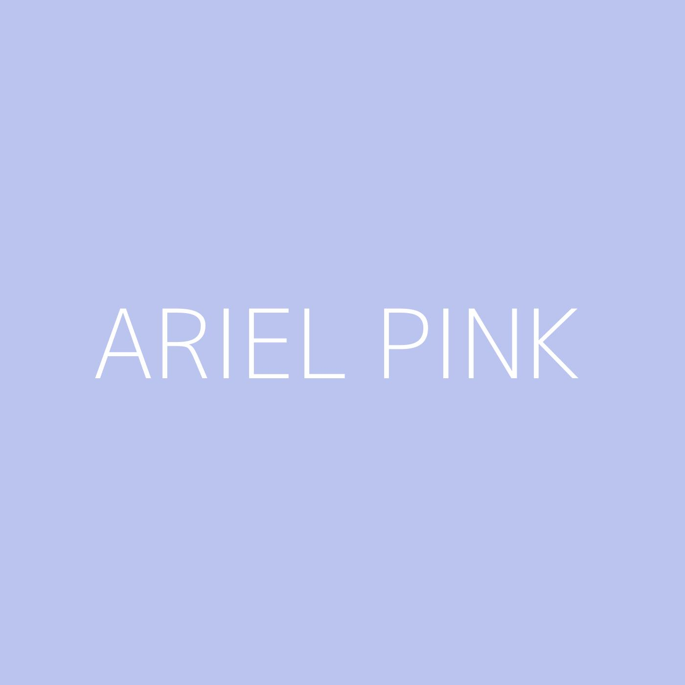 Ariel Pink Playlist Artwork