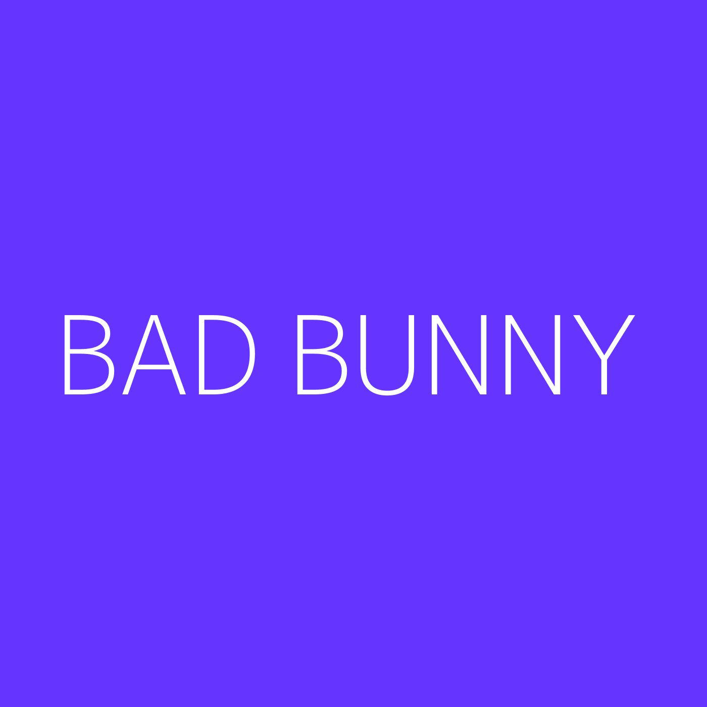 Bad Bunny Playlist Artwork
