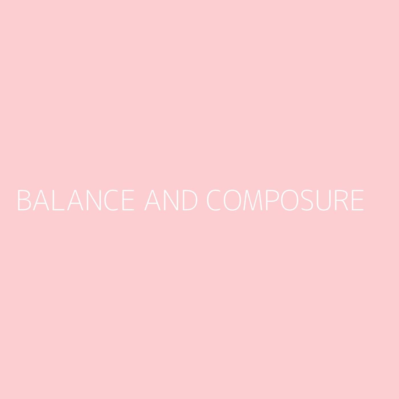 Balance And Composure Playlist Artwork