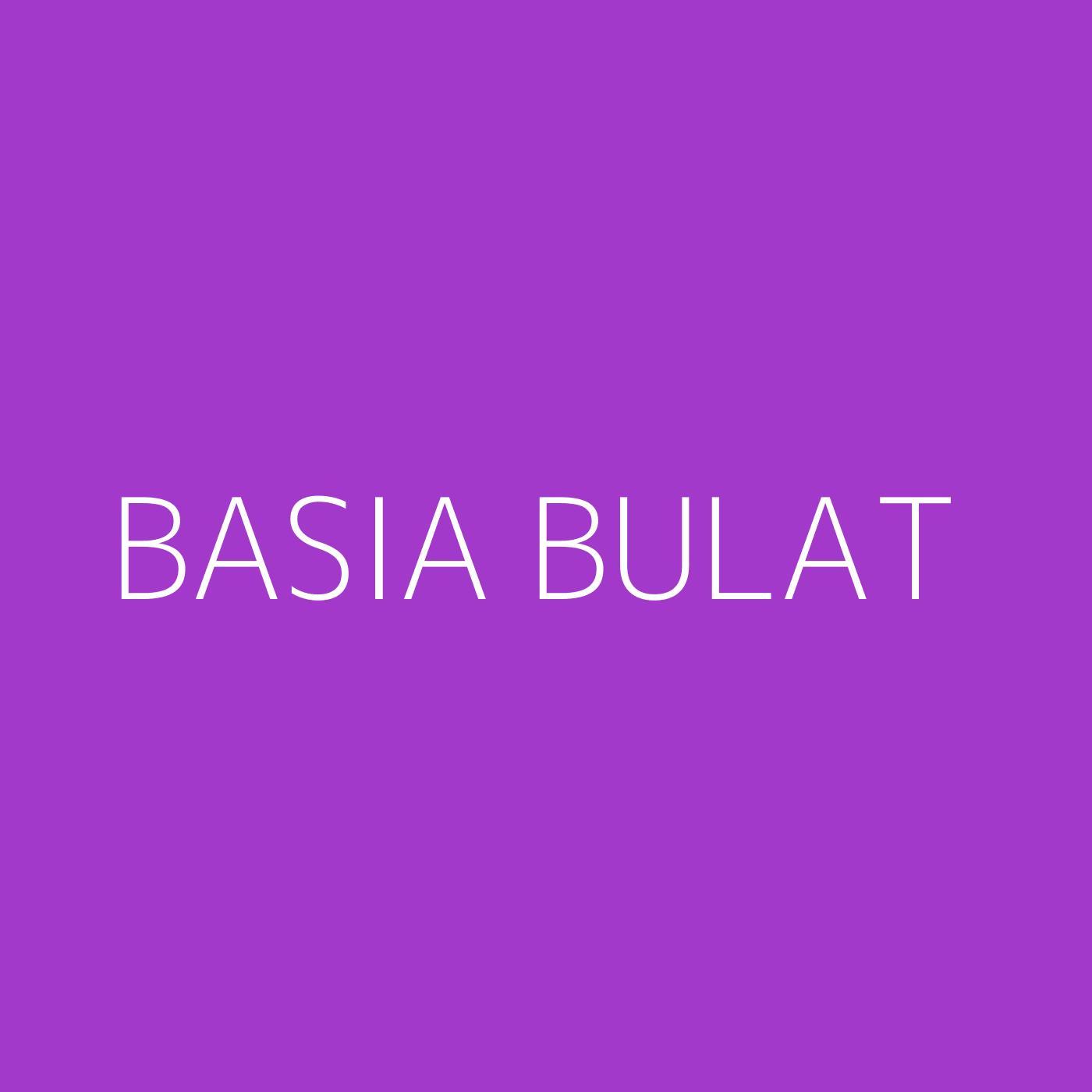 Basia Bulat Playlist Artwork