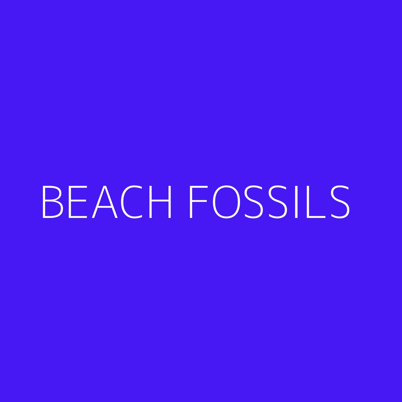 Beach Fossils Playlist Artwork