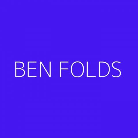 Ben Folds Playlist – Most Popular