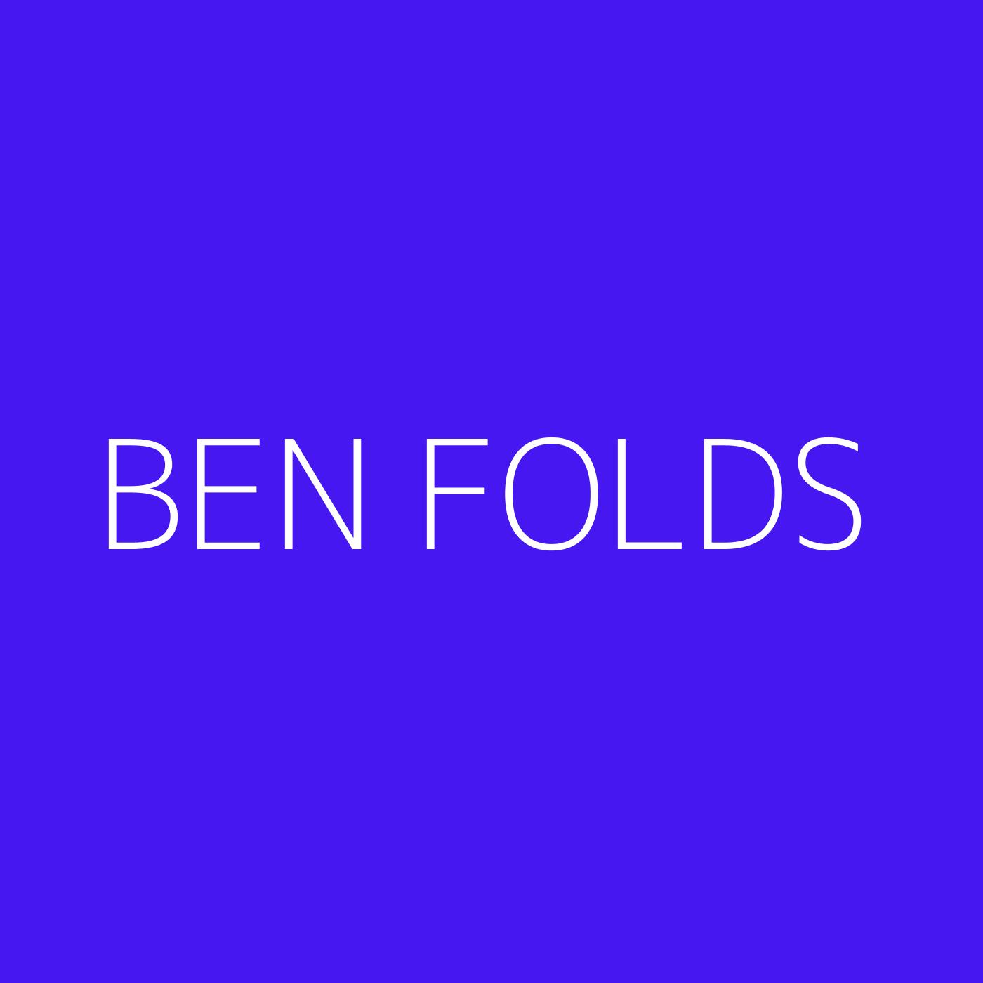 Ben Folds Playlist Artwork