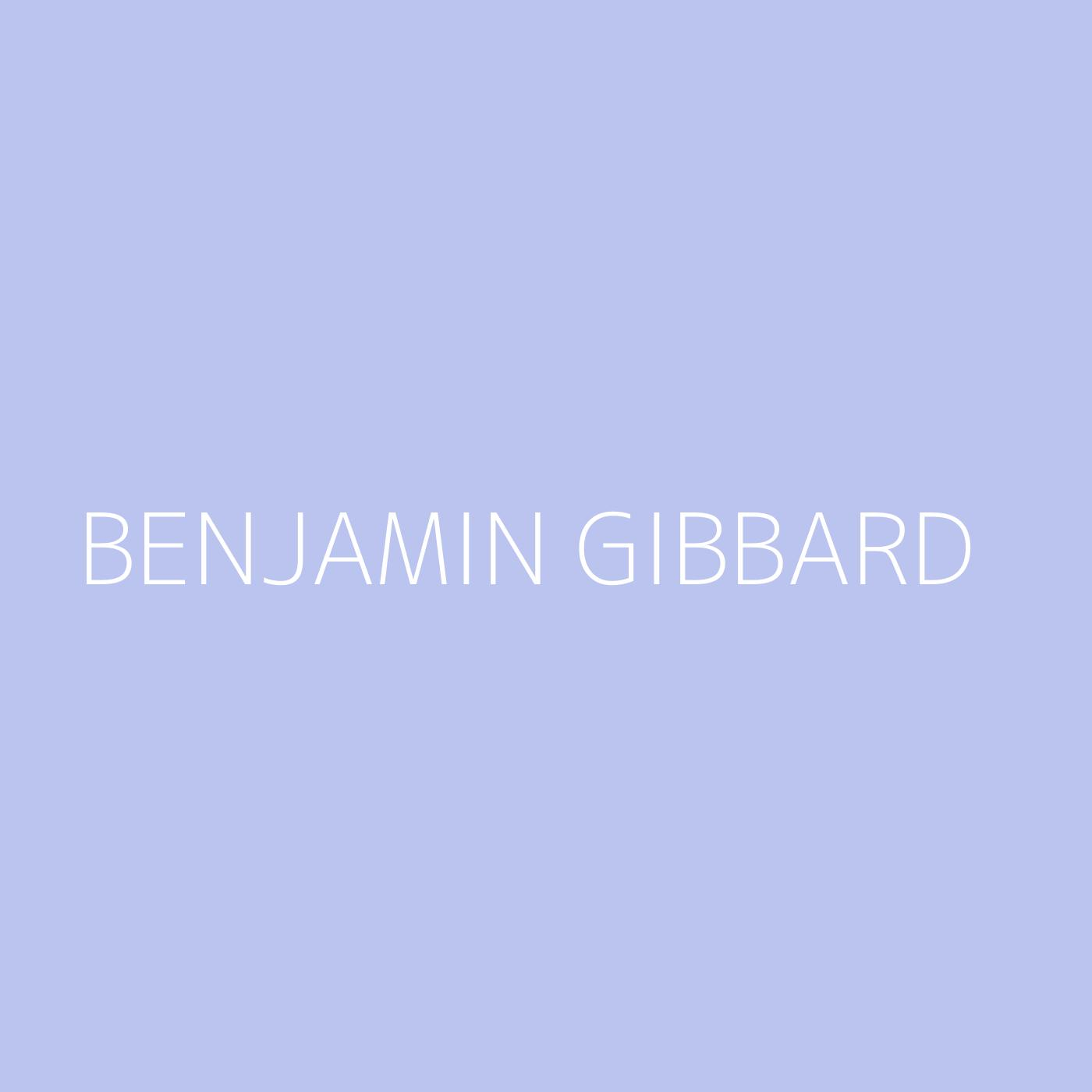 Benjamin Gibbard Playlist Artwork