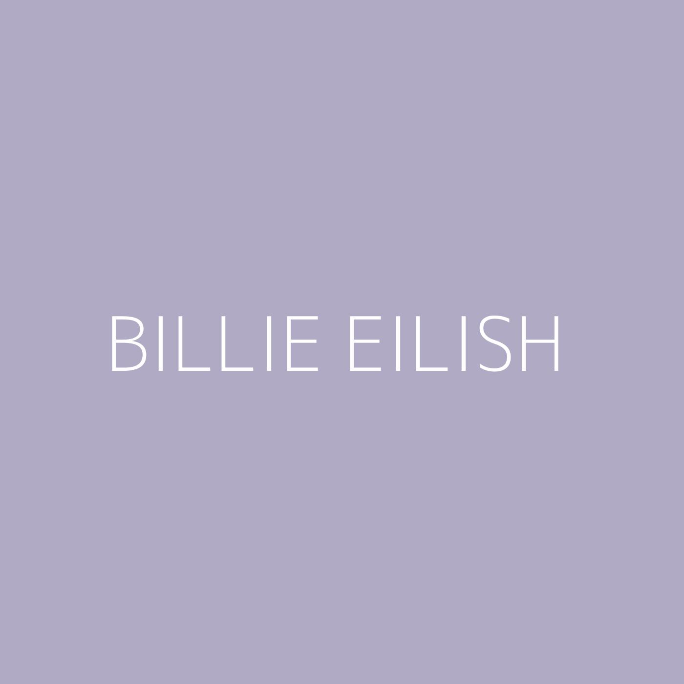Billie Eilish Playlist Artwork