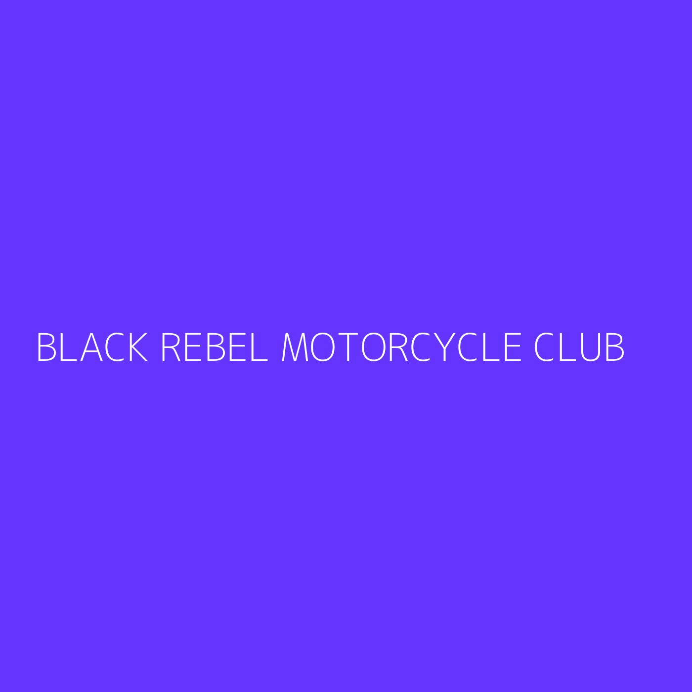 Black Rebel Motorcycle Club Playlist Artwork