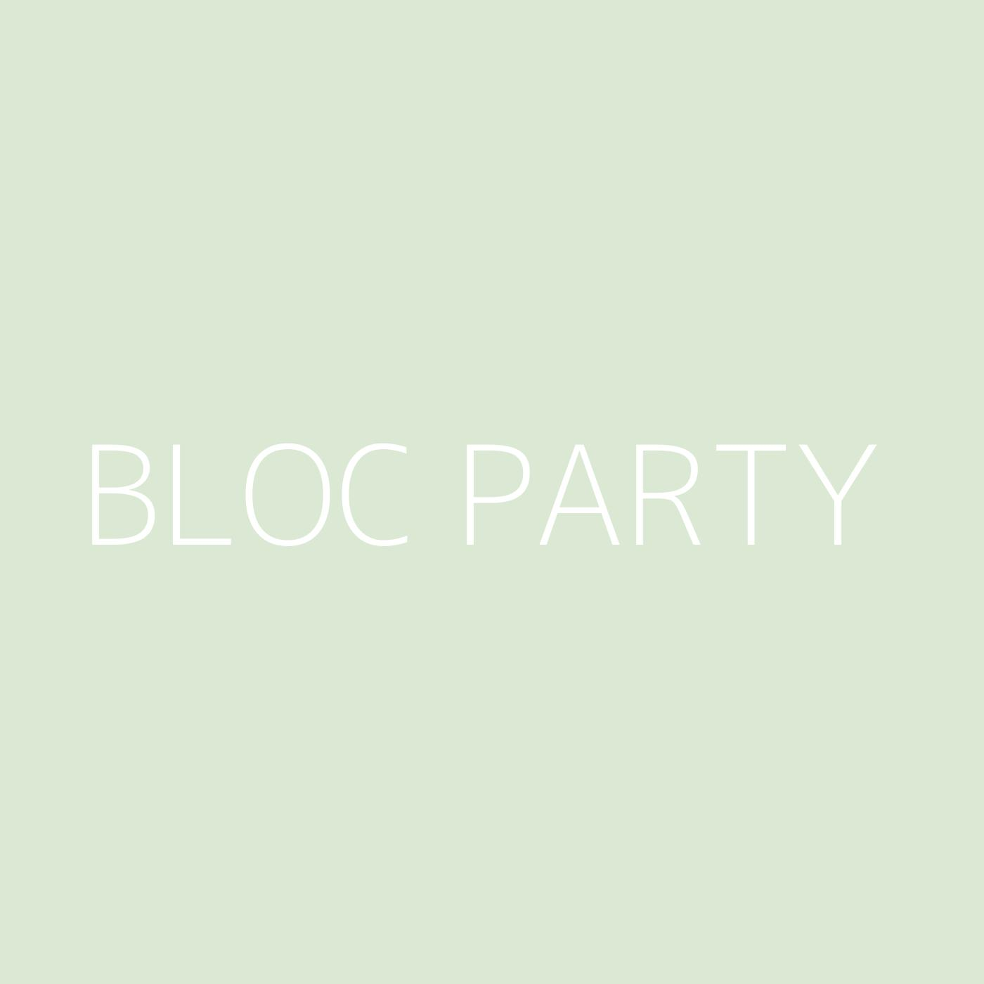 Bloc Party Playlist Artwork