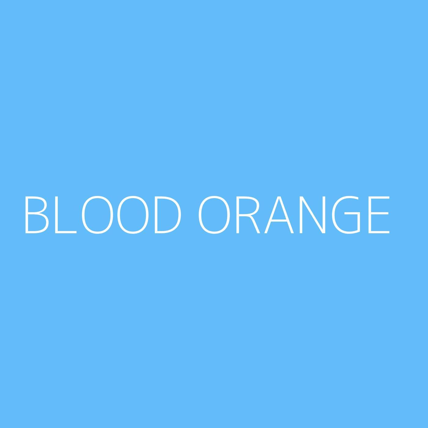 Blood Orange Playlist Artwork