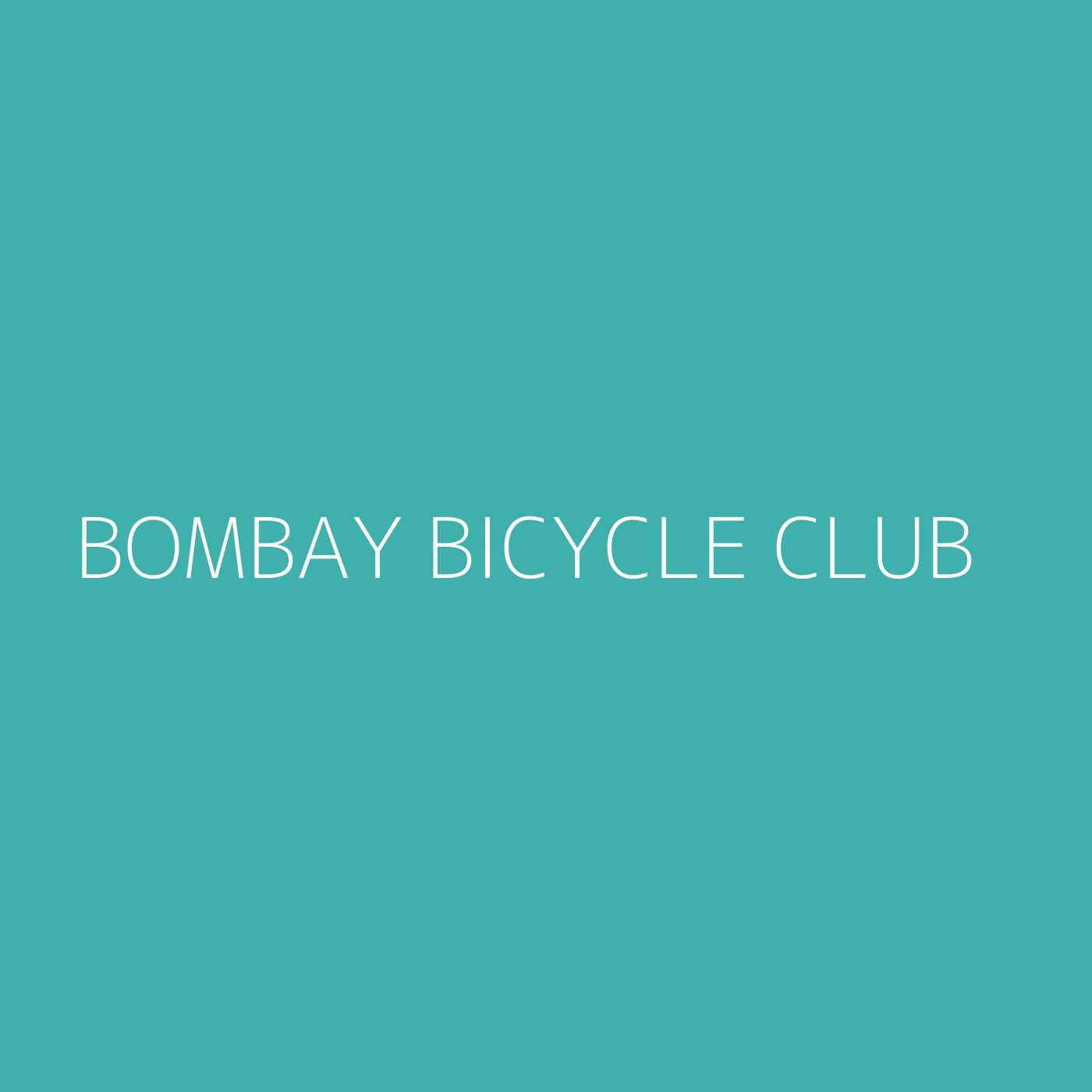 Bombay Bicycle Club Playlist Artwork