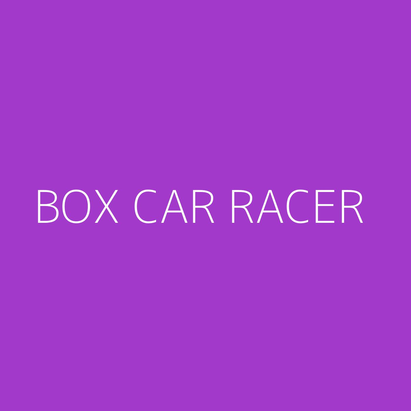 Box Car Racer Playlist Artwork