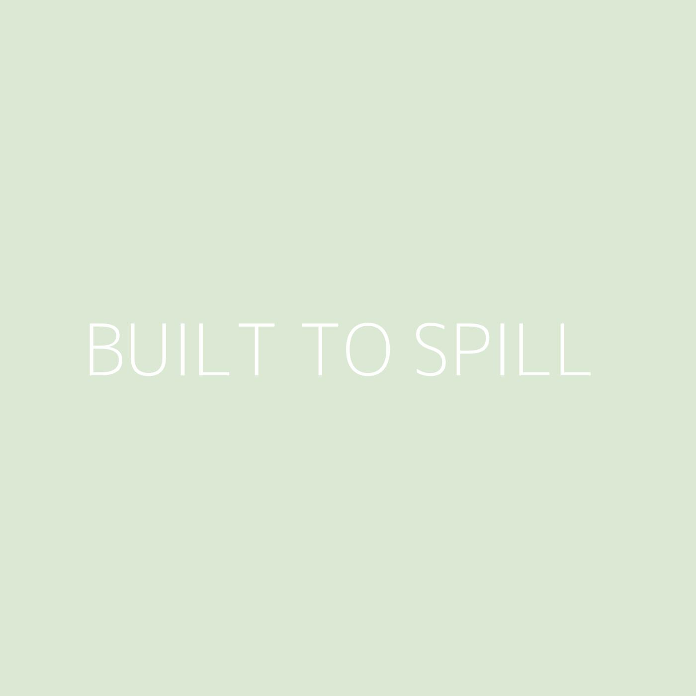 Built To Spill Playlist Artwork