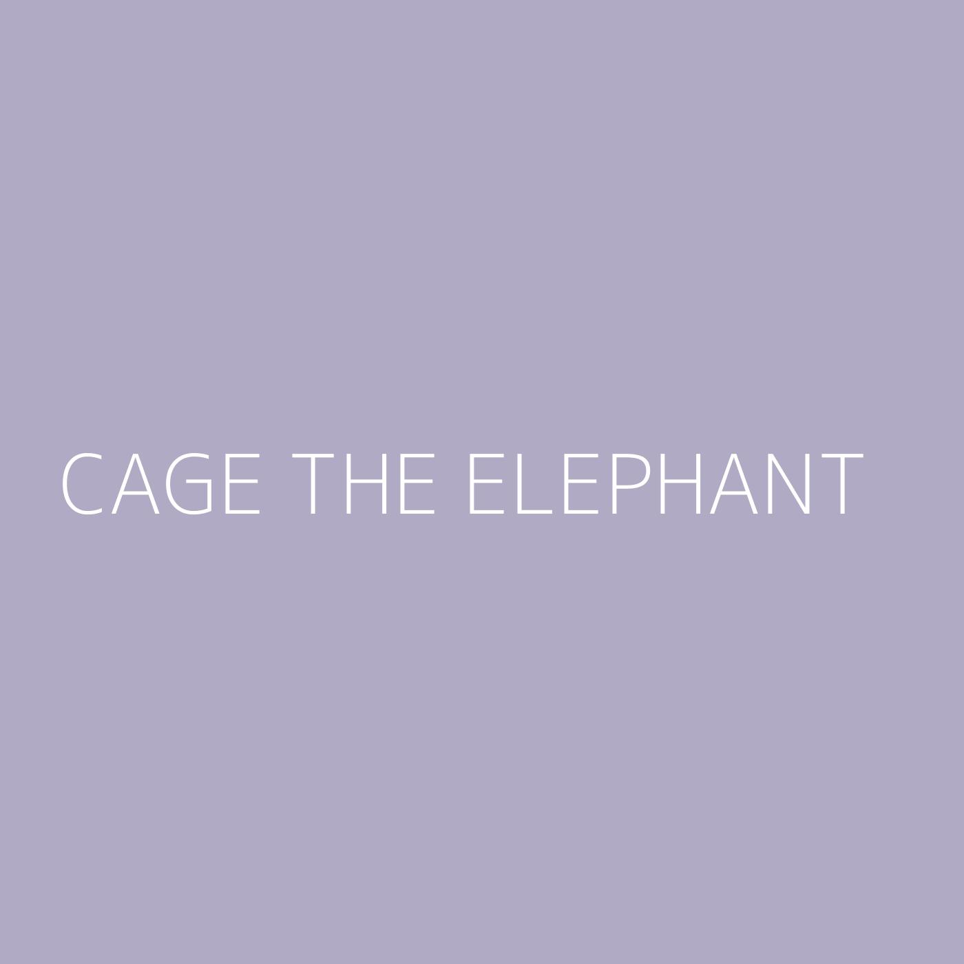 Cage The Elephant Playlist Artwork