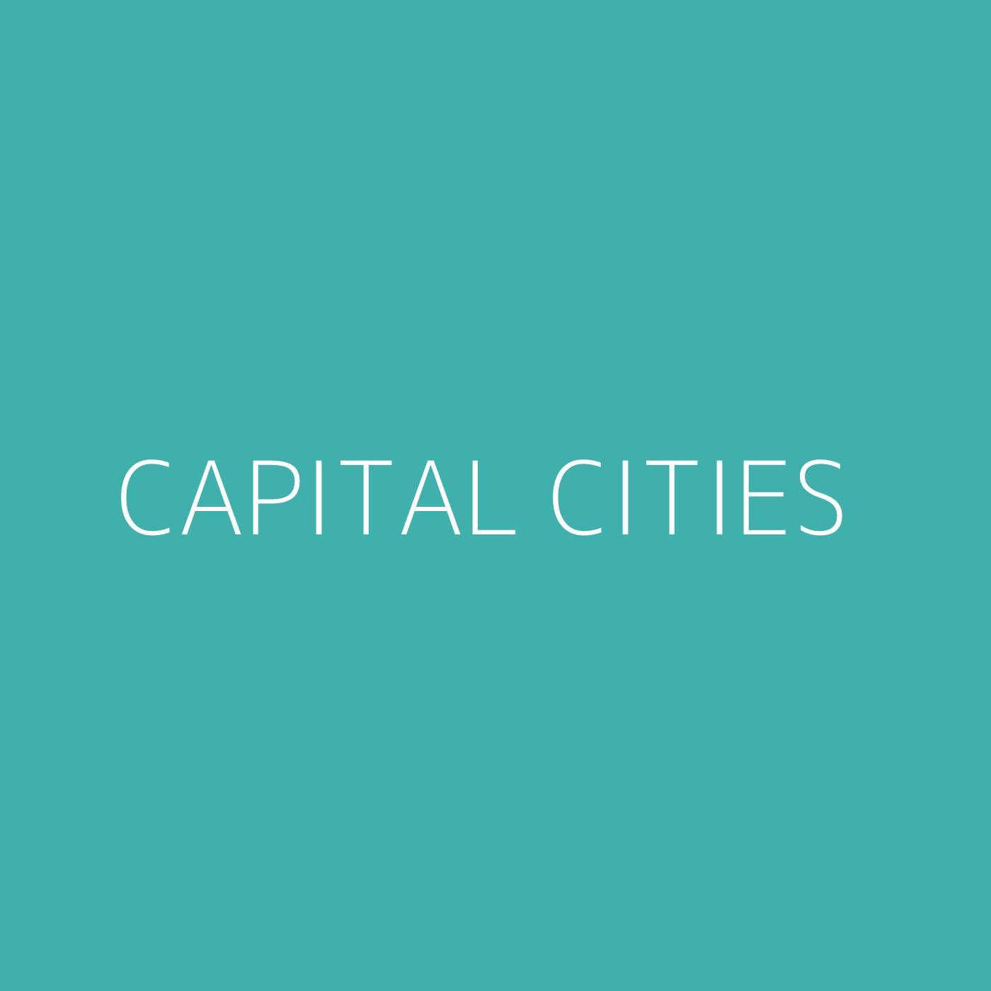 Capital Cities Playlist Artwork