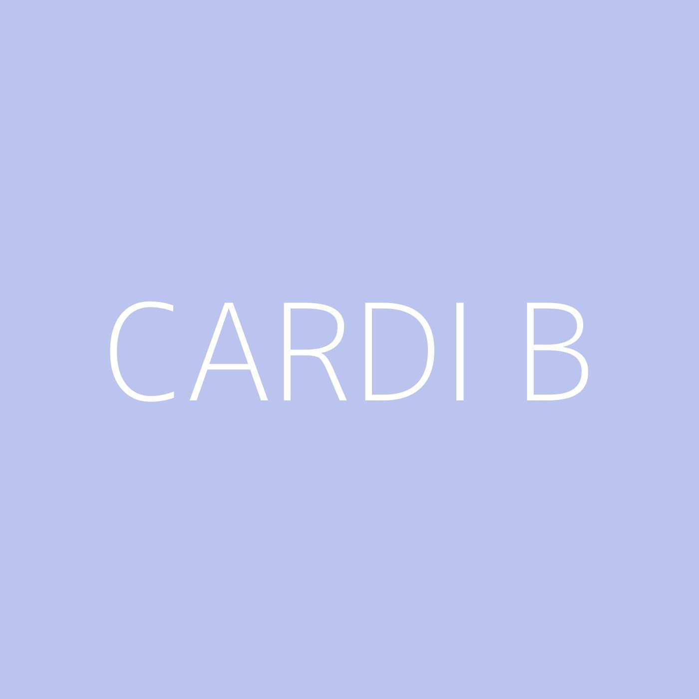 Cardi B Playlist Artwork
