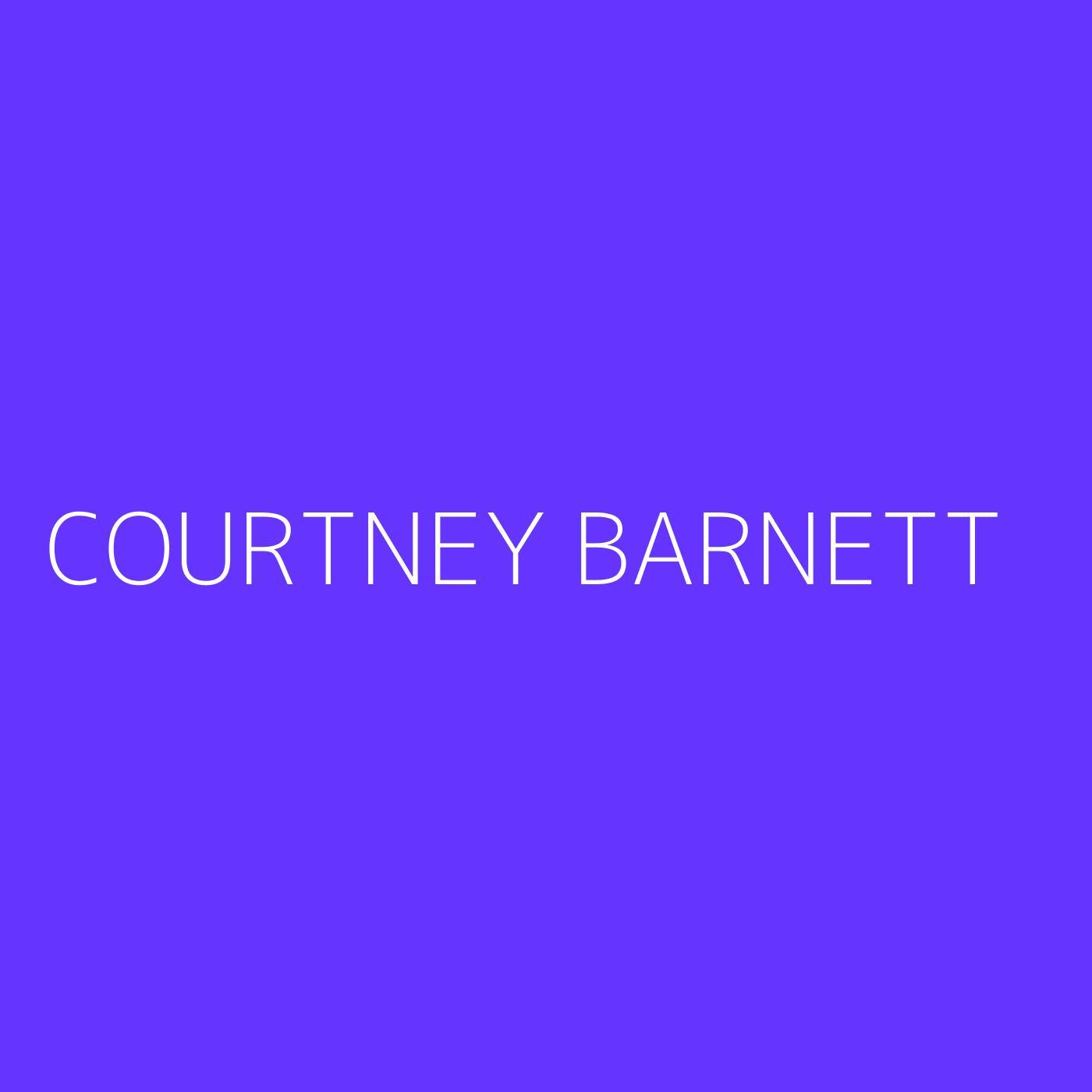 Courtney Barnett Playlist Artwork