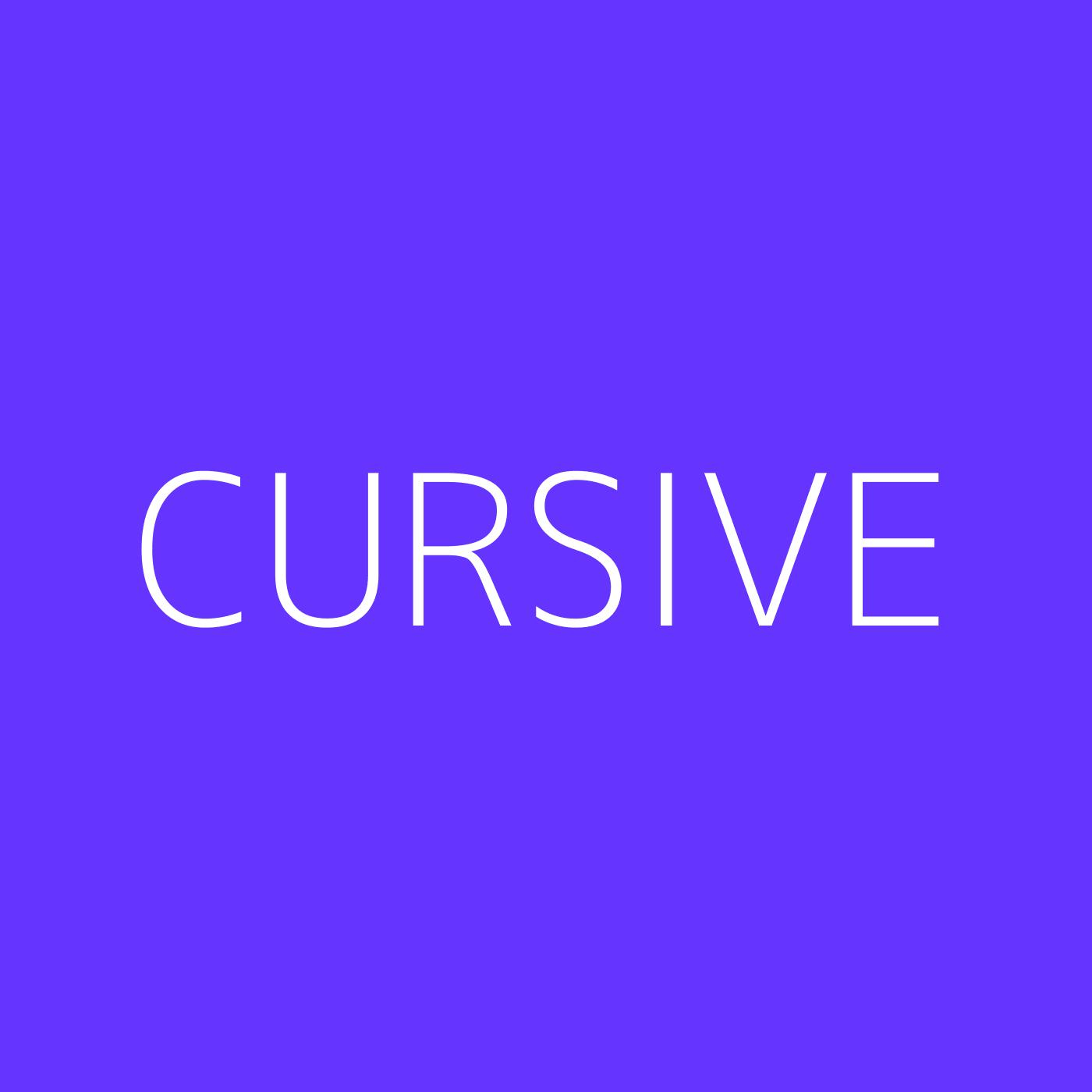 Cursive Playlist Artwork