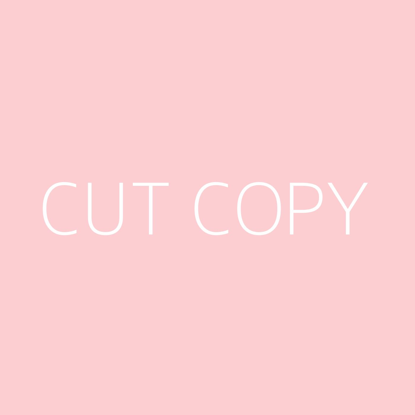 Cut Copy Playlist Artwork