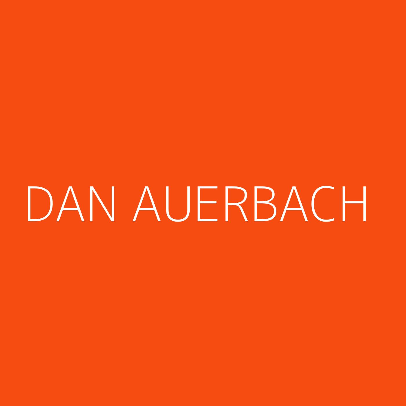Dan Auerbach Playlist Artwork