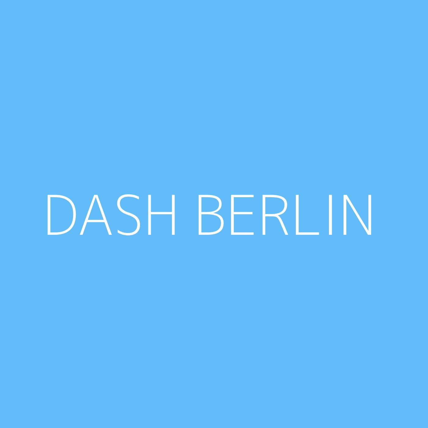 Dash Berlin Playlist Artwork
