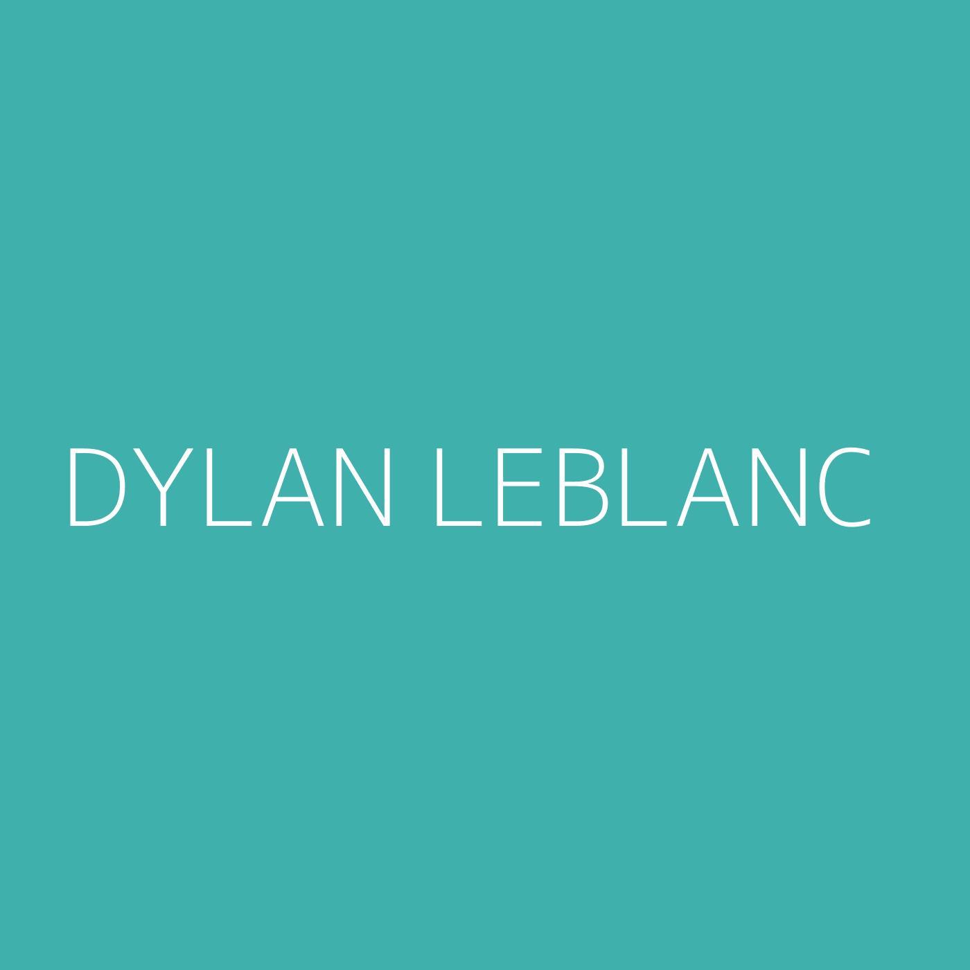 Dylan LeBlanc Playlist Artwork