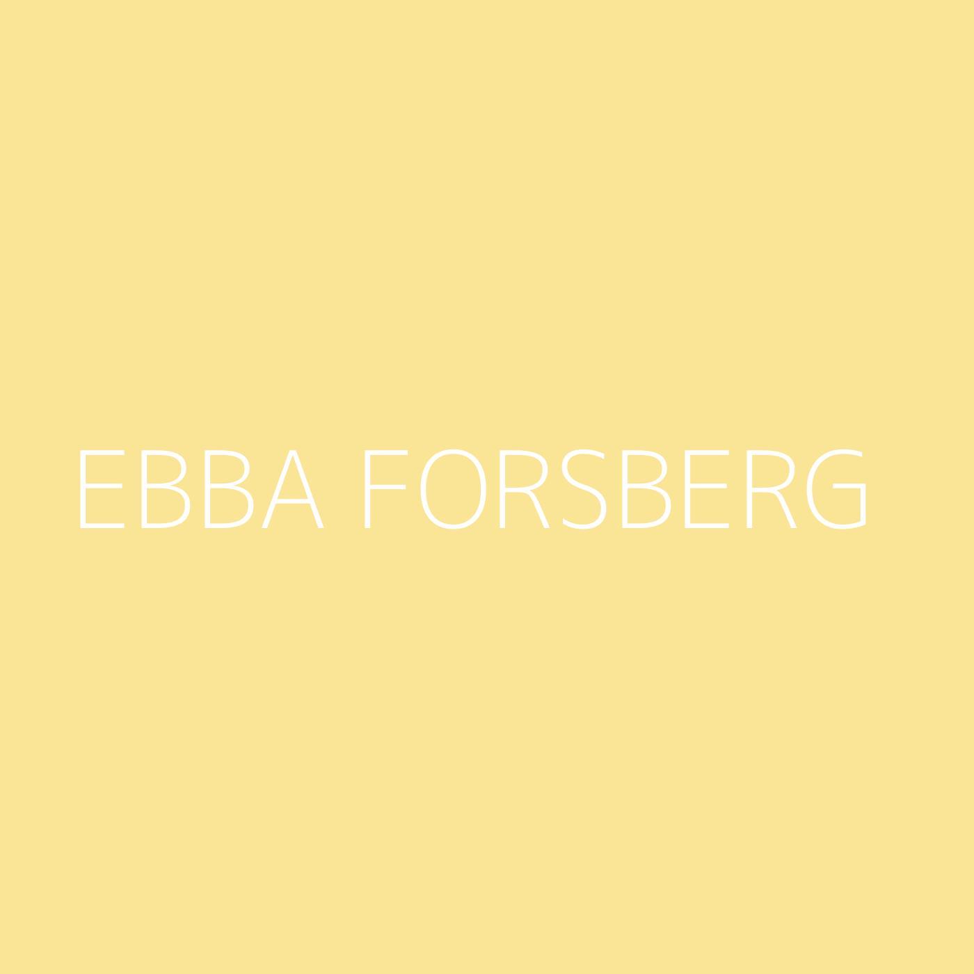 Ebba Forsberg Playlist Artwork