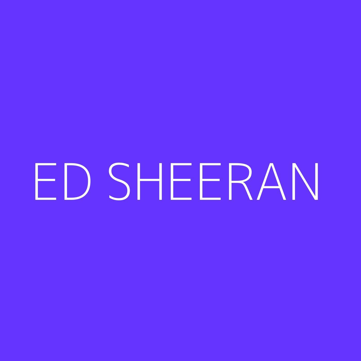 Ed Sheeran Playlist Artwork