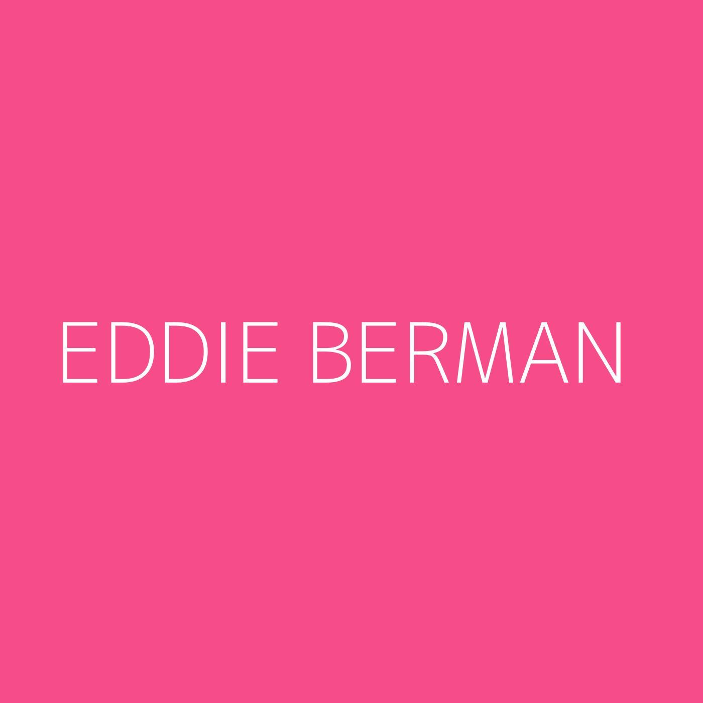 Eddie Berman Playlist Artwork