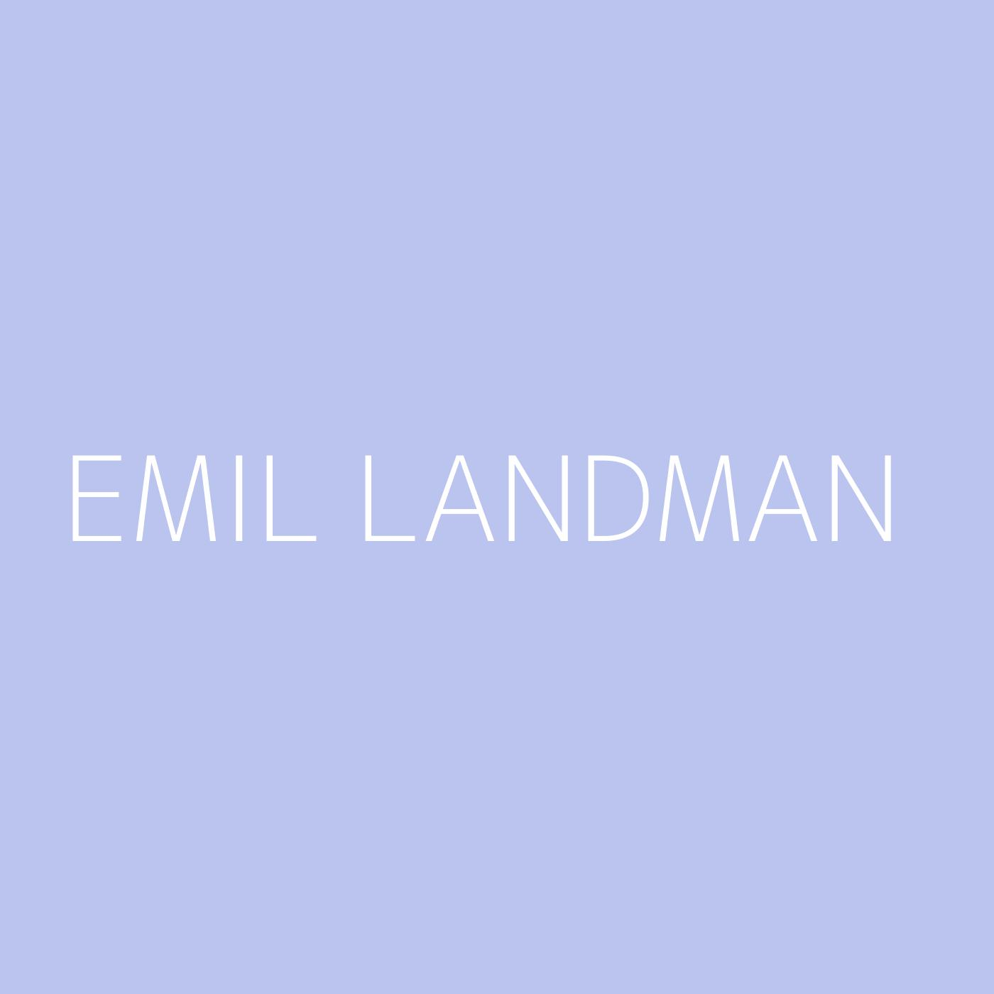 Emil Landman Playlist Artwork