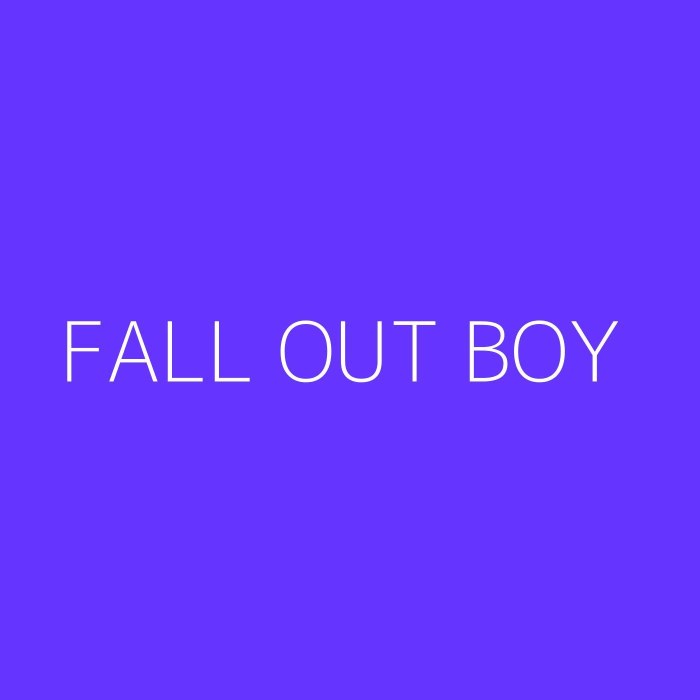 Fall Out Boy Playlist Artwork