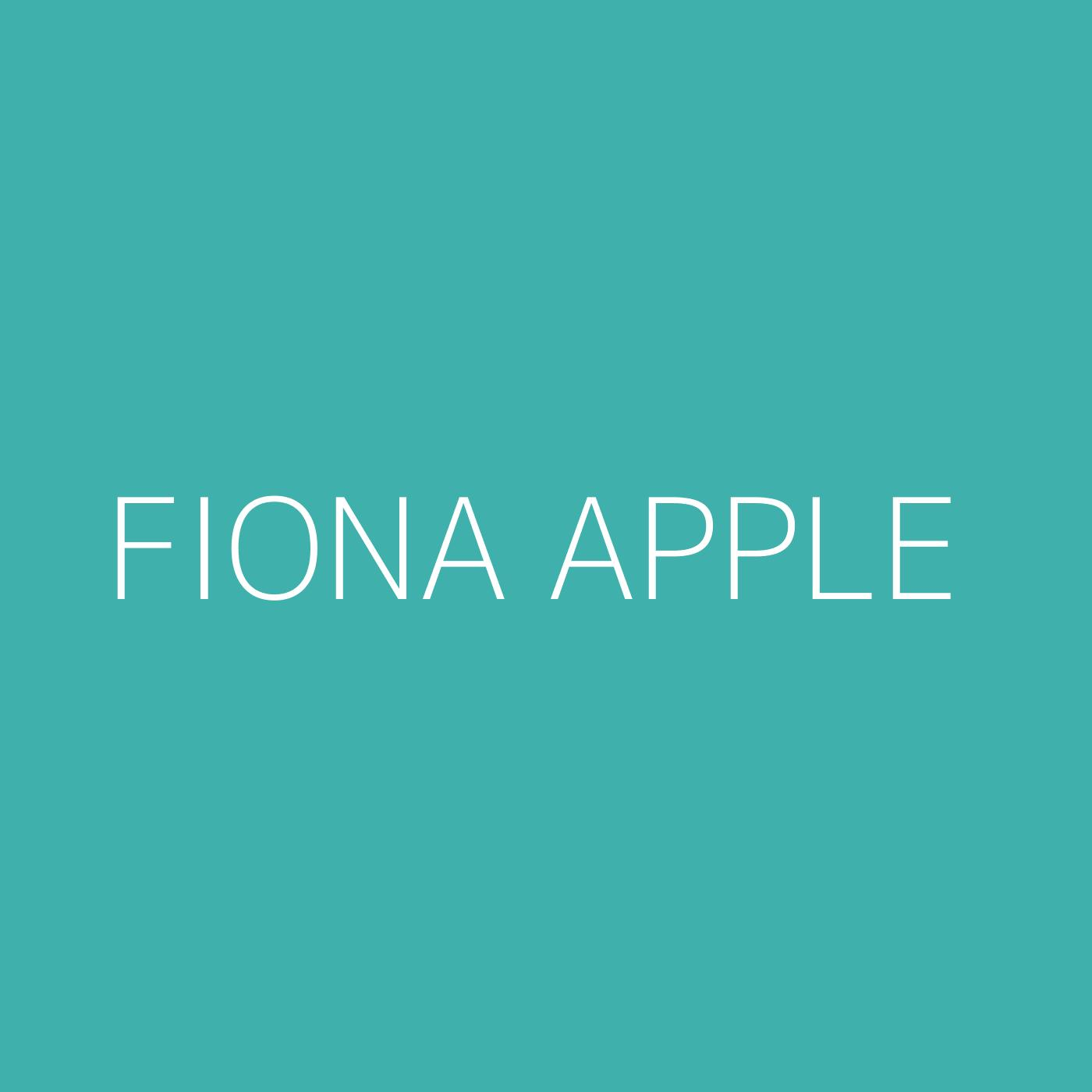 Fiona Apple Playlist Artwork