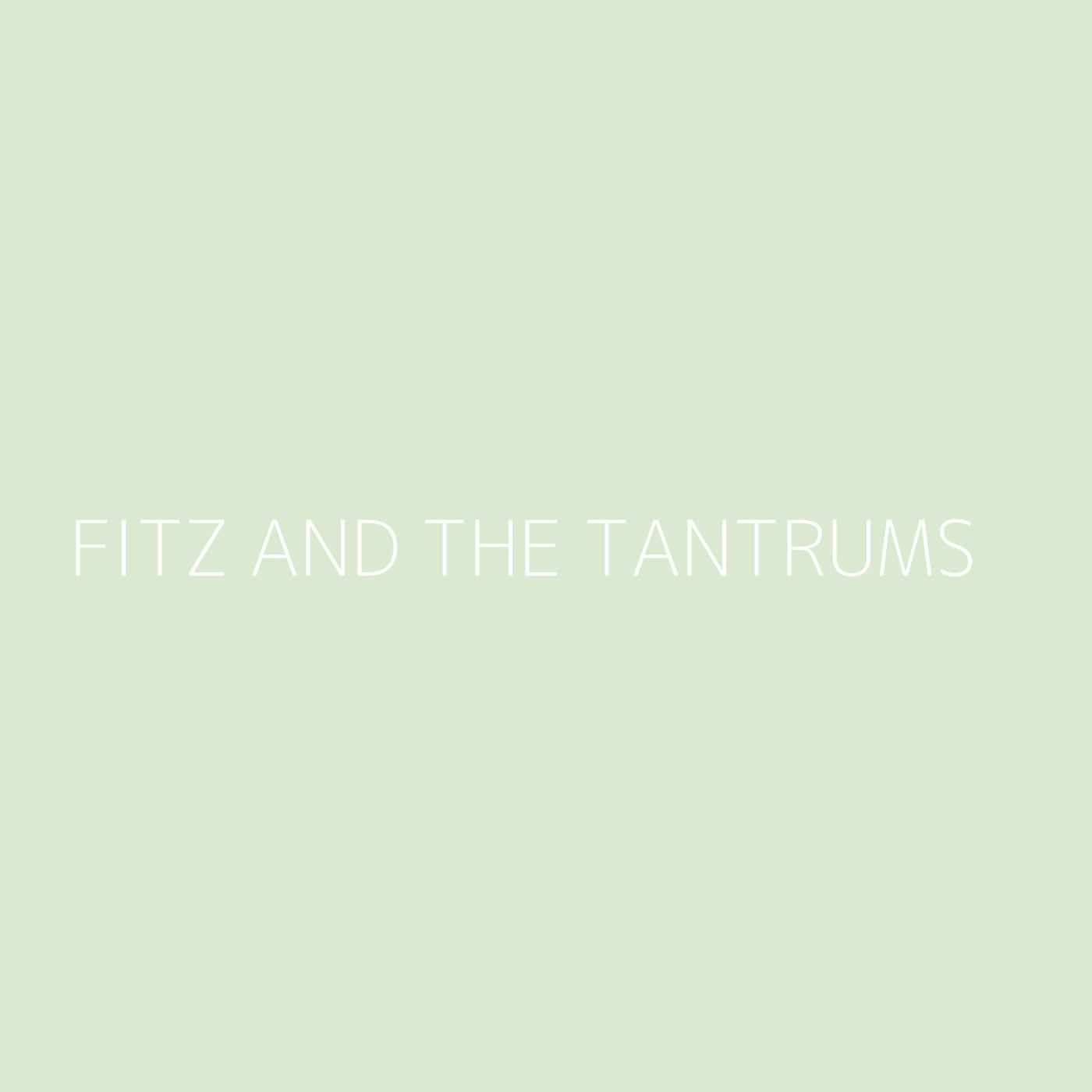 Fitz and The Tantrums Playlist Artwork