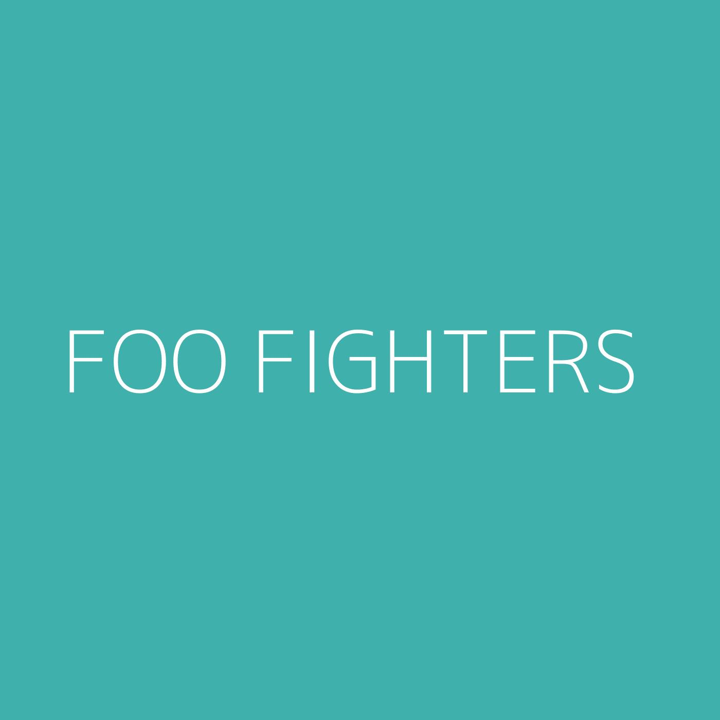 Foo Fighters Playlist Artwork