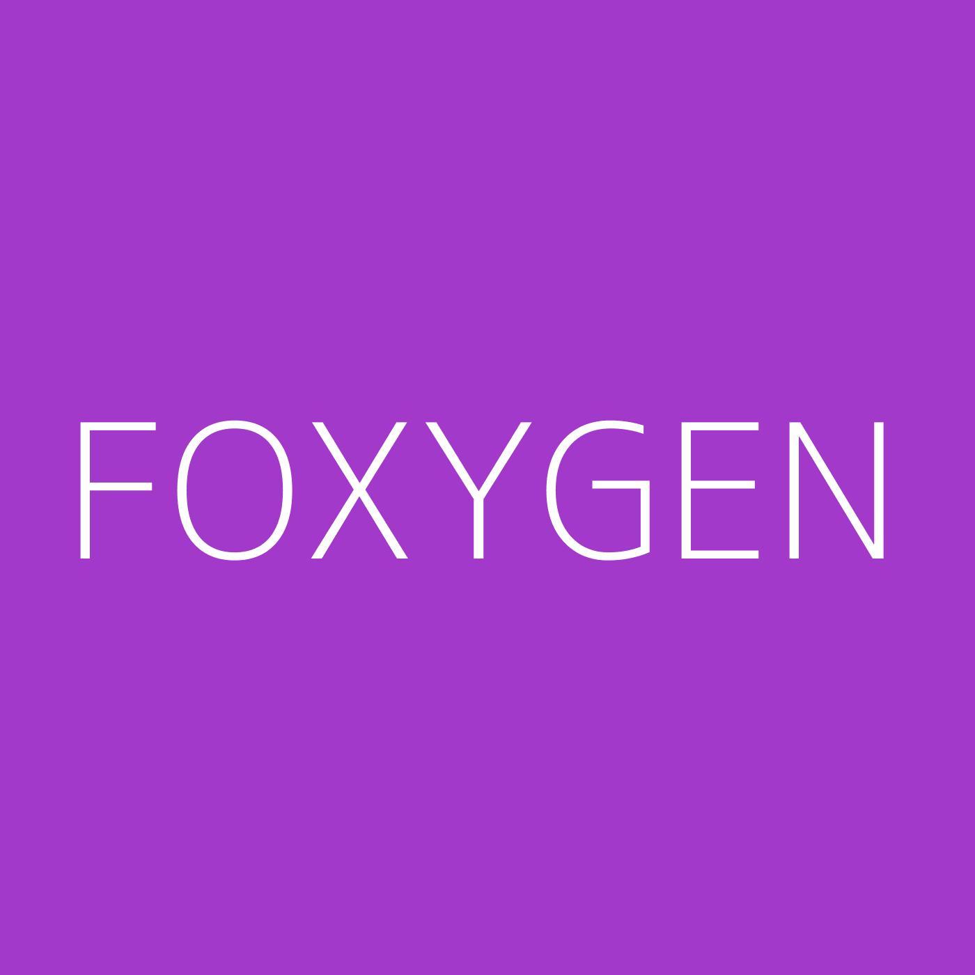 Foxygen Playlist Artwork