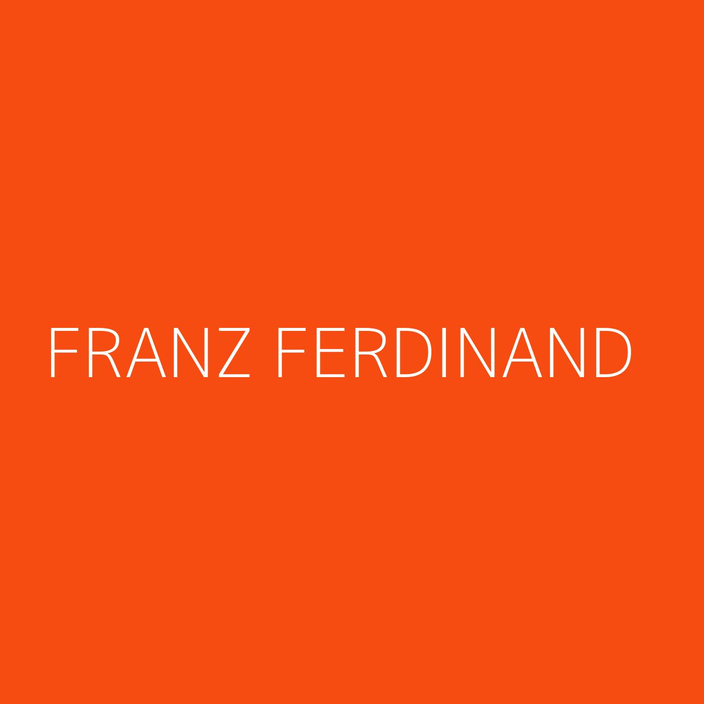 Franz Ferdinand Playlist Artwork