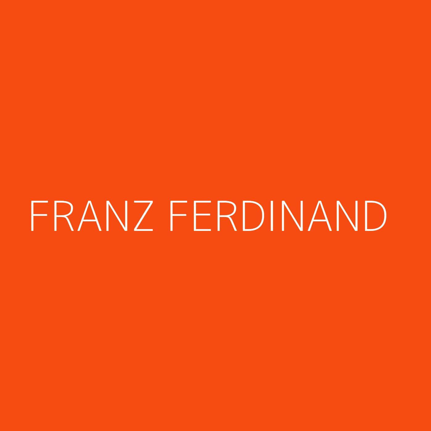 Franz Ferdinand Playlist Artwork