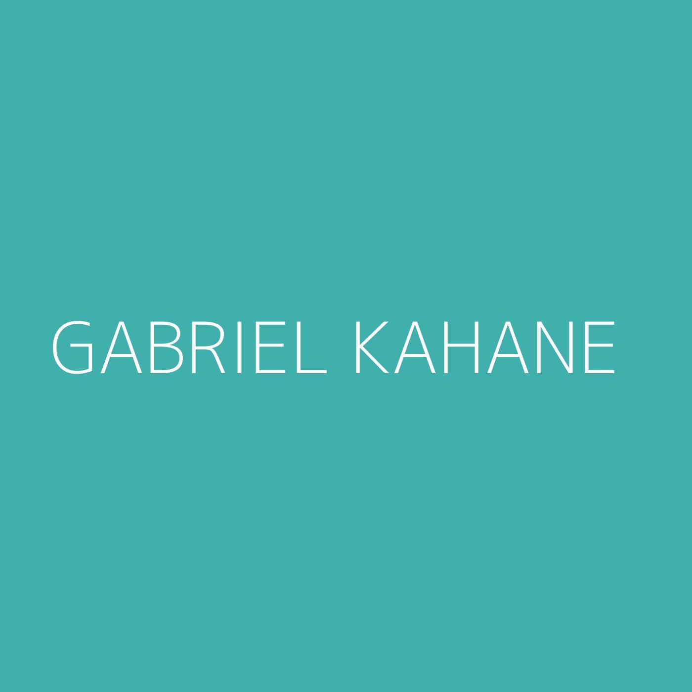 Gabriel Kahane Playlist Artwork