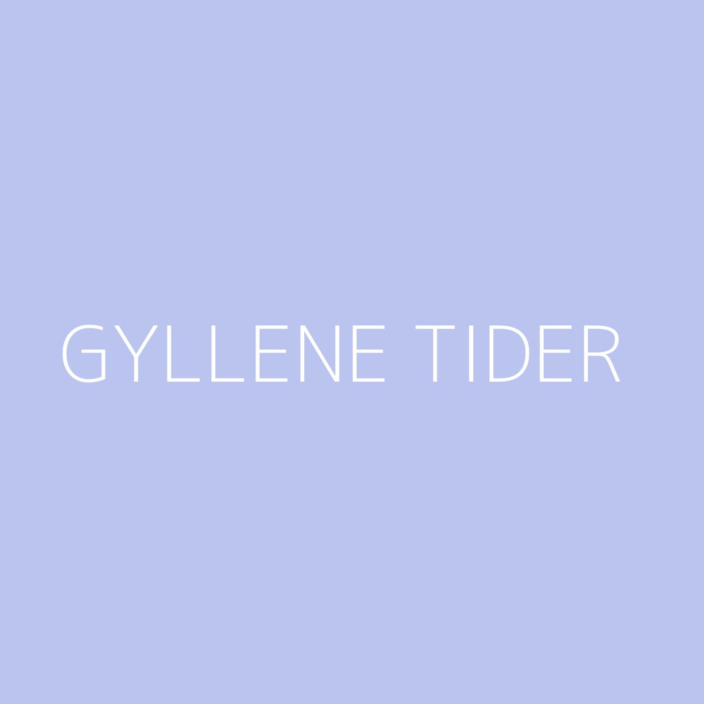 Gyllene Tider Playlist Artwork